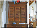TG2440 : Overstrand in-church War Memorial by Adrian S Pye