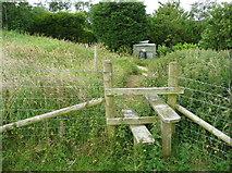 SE0322 : Stile on Sowerby Bridge FP141 (Link B) by Humphrey Bolton