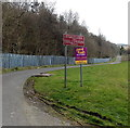 ST0799 : Road ahead closed - authorised access only, Aberfan by Jaggery