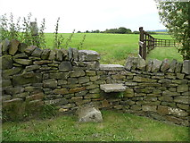 SE0322 : Stile on the unofficially diverted route of Sowerby bridge FP141, Link D by Humphrey Bolton