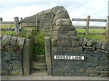 SE0322 : Steps and stile on Sowerby Bridge FP103, Link B, at Rooley Lane by Humphrey Bolton