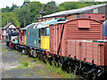 SJ9851 : Rolling stock at Cheddleton Station in Staffordshire by Roger  Kidd