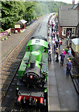 SK0247 : Kingsley and Froghall Station in Staffordshire by Roger  Kidd