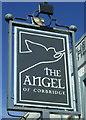 NY9864 : Sign for the Angel Inn, Corbridge by JThomas