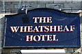 NY9864 : Sign on the Wheatsheaf Hotel, Corbridge by JThomas