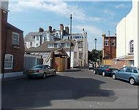 SY6878 : North along South Parade, Weymouth by Jaggery