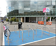 NS5666 : Nextbike Glasgow cycle hire point: University of Glasgow (West) by Thomas Nugent