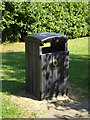 TL0652 : Rubbish Bin Mowsbury Park by Adrian Cable