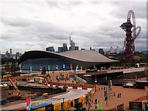 TQ3884 : Aquatics Centre and ArcelorMittal Orbit,  Queen Elizabeth Olympic Park by Julian Osley