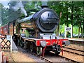 TG0939 : Steam Locomotive at Holt Station by David Dixon