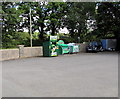SN0121 : Recycling and donations bins near Clarbeston Road Memorial Hall by Jaggery