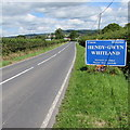 SN1915 : Whitland southern boundary sign by Jaggery