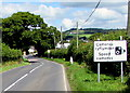 SN1915 : Speed cameras sign at the southern edge of Whitland by Jaggery