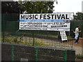 TR3141 : Placard advertising music festival by John Baker