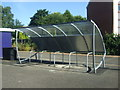 NZ2361 : Cycle parking and shelter, Dunston Railway Station by JThomas