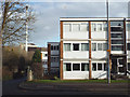 SP3477 : Two and a half rows of three-storey flats, Whitley Village, Coventry by Robin Stott