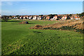 TV4998 : Chyngton Road, Seaford, has a view of the Seaford Head golf course by Robin Stott