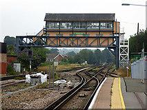 TR1458 : The imposing Canterbury West signal box by John Lucas