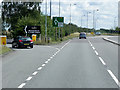 SK8155 : Entrance to Friendly Farmer Service Area, A17 near Winthorpe by David Dixon