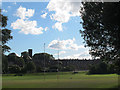 SE2633 : Armley Park: rugby pitch by Stephen Craven