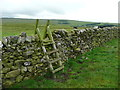 SD8567 : Stile on footpath, Langcliffe by Humphrey Bolton