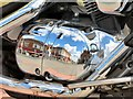 SJ9494 : Reflections in a motorcycle (1) by Gerald England