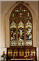 TM0375 : Rickinghall Inferior church, east window by Charles Greenhough