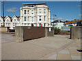 SX9472 : Flood gate and flood wall, northern seafront off Esplanade, Teignmouth by Robin Stott