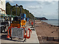 SX9473 : Contractor's compound, Terrace Walk, Teignmouth seafront by Robin Stott