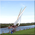 TG4319 : Fishing and sailing on the River Thurne by Evelyn Simak