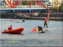 SJ8097 : Watersports at the Huron Basin, Salford Quays by David Dixon