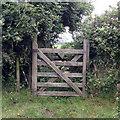 SS6141 : Gate on footpath 8 by Hugh Craddock
