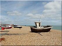 TR3751 : Boats  on  the  shingle  beach  Lower  Walmer by Martin Dawes