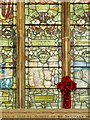 TF8208 : Swaffham Parish Church War Memorial Window: Jerusalem by David Dixon