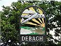 TM2454 : Debach village sign by Adrian S Pye