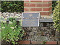 TM2454 : Memorial plaque to the 493rd Bomb Group(H) at Debach by Adrian S Pye
