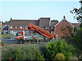 TF4208 : New houses being built, Sayer's Crescent, Wisbech St Mary - 1 by Richard Humphrey