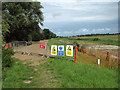 TG4318 : Footpath diversion signs by the River Thurne by Evelyn Simak