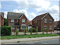 TL1635 : New houses on Bedford Road (A600) by JThomas
