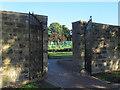 SE2435 : Bramley Park; gates to the flower garden by Stephen Craven