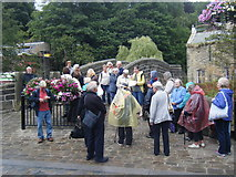 SD9927 : Hebden Bridge with Wavertree Society (Liverpool) on guided tour by Colin Pyle