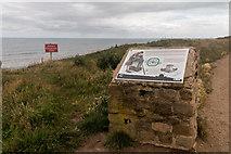 TA1281 : Site of Roman Fort, Filey Brigg, Yorkshire by Christine Matthews