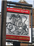 TQ1666 : George & Dragon sign by Oast House Archive