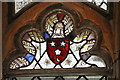SK9083 : Stained glass detail, St Edith's church by J.Hannan-Briggs
