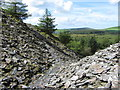SN0730 : Slate tips at Bellstone Quarry by Gareth James