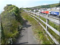 TR3140 : Lorries queuing on the A20 by John Baker