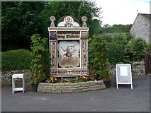 SK2375 : 2015 Stoney Middleton Well Dressing (a) by Basher Eyre