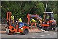 SX9896 : Broadclyst : Roadworks by Lewis Clarke