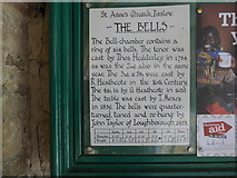 SK2572 : St Anne, Baslow: information board by Basher Eyre