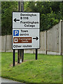 TM2763 : Roadsign on the B1119 Mount Pleasant by Adrian Cable